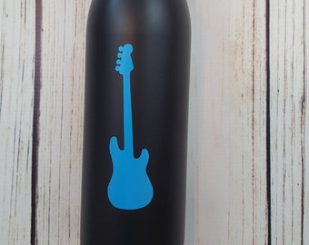 Guitar vinyl decal for flask,yeti,waterbottle