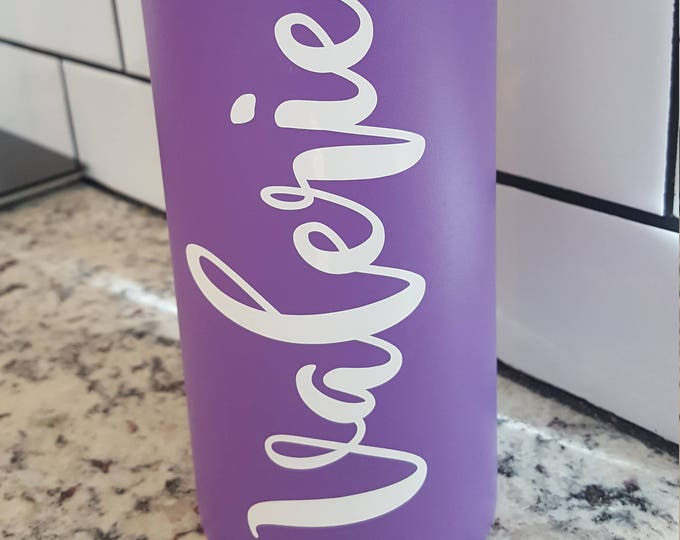Featured listing image: Custom name vinyl decal for Flask Water Bottle