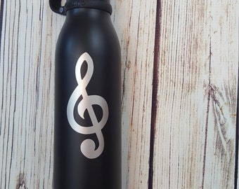 Treble Clef vinyl decal for flask,yeti,waterbottle