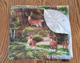 Baby flannel swaddle blanket Forest Elk