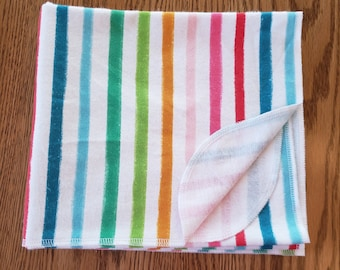 Baby flannel swaddle blanket Rainbow Stripe
