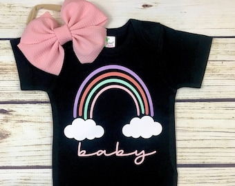 {Rainbow Baby in Black}