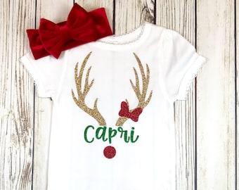 {Custom Name Girl Rudolph}