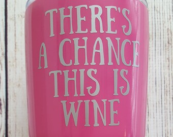 There's a chance this is Wine decal for Flask Water Bottle Yeti