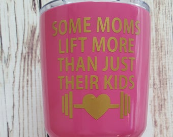 Some moms lift more than just their kids decal for Flask Water Bottle Yeti