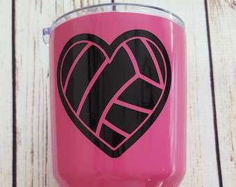 Volleyball Heart decal for Flask Water Bottle, Car Decal, Lap Top Decal