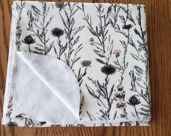 Baby flannel swaddle blanket Forest Garden