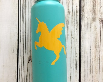 Unicorn vinyl decal for Flask Water Bottle, Car Decal, Lap Top Decal