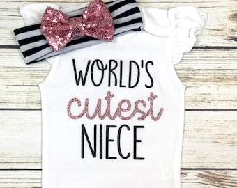 {World's Cutest Niece} Rose Gold