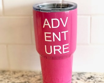 Adventure vinyl decal for flask,yeti,waterbottle