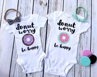 Donut Worry, Be Happy Baby Bodysuit
