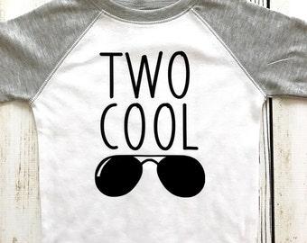 Two Cool Toddler White and Gray Raglan T-shirt
