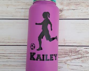 Soccer Girl vinyl decal for flask,yeti,waterbottle