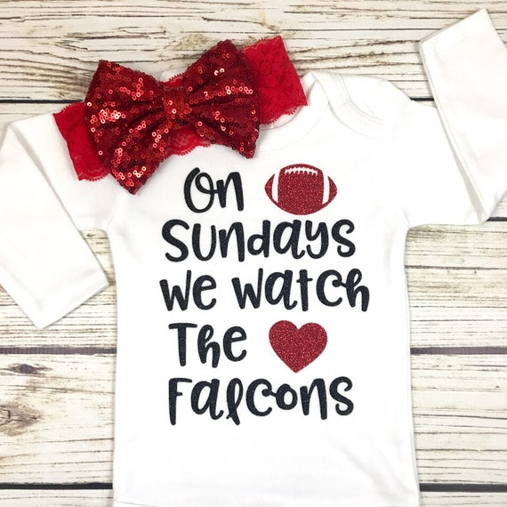 2ee3ed3c0 On Sundays We Watch Falcons Football Bodysuit Outfit For Baby | Etsy