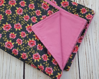 Baby Girl Blanket double-sided Flannel Floral