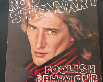 Rod Stewart Foolish Behavior Record Vinyl LP