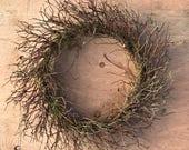 Wreath, Dried Wreath, Twigs Wreath, Country Home Wreath, Manzanita Wreath, Rustic Wreath, Natural Wreath