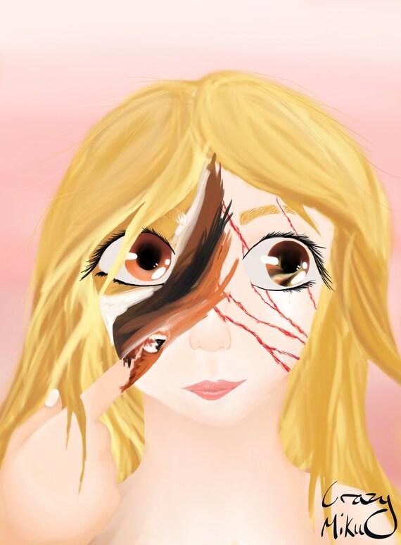 Drawing Acid Scars Digital Art