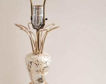 Atomic Sputnik lamp/ceramic/atomic/gold/black/midcentury/1950s/rare