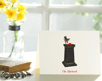 The Pedestal & The Stiletto - 25 Personalized Note Cards