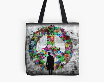 Tote Bag - Kennyrandom Give Peace a Chance