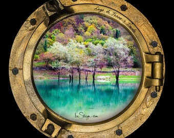 Photo Frame Round | Porthole: Lake Tenno