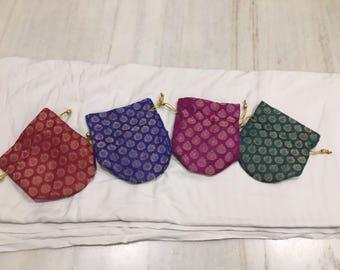 Set of 20 Assorted Brocade Drawstring  bags (N0159)