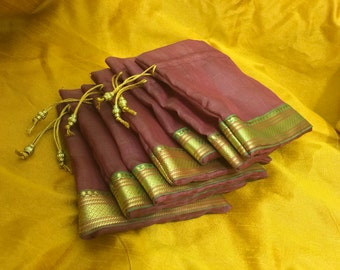 Draw string bags- set of 7 (0033)