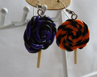 halloween lollipop earrings