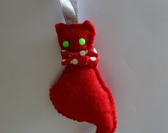 Christmas decoration, a red cat