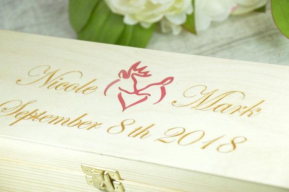 Personalized Wine Box Wine Ceremony Keepsake Time Capsule Etsy