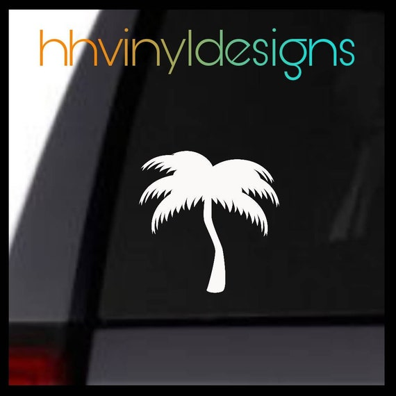 Palm Tree Ocean Vacation Decal Sticker Accessory Gift Car SUV Laptop