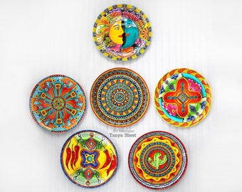 Wall mexican plate hand painted Mexico set decorative plates Wall art plate-10 127  Home decor Office decor Restaurant decor Gift original  sc 1 st  Etsy & Mexican plates | Etsy
