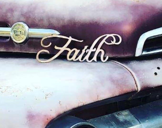Copper Faith Sign.  Wall Decor.  Faith in Christ.  Metal Faith. Wall Hanging
