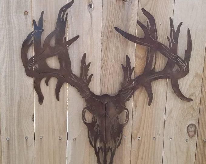 Monster Buck Deer Metal Art; White-tail; Deer;  Deer Hunting; Buck Wall Hanging