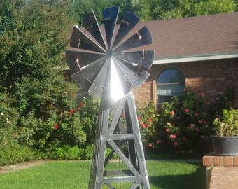 Metal Windmill Sculpture.  Western Windmill.  Boho Windmill.  Steel Art.  Farming, Ranching, Country, wind, Country  scene.