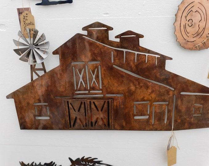 Barn.  Wall hanging art.