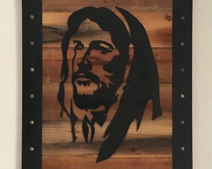 Jesus Christ.  Framed Metal Art