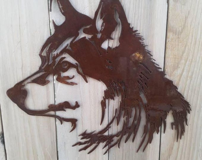 Lone Wolf Metal Art Decor