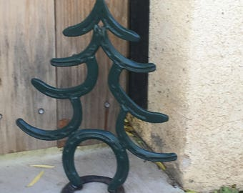 Horseshoe Christmas tree.  Gift for Her.  Christmas Decor.   Cowboy Christmas