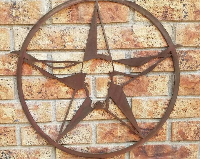Texas Longhorn  Steer Star Kitchen Metal Art
