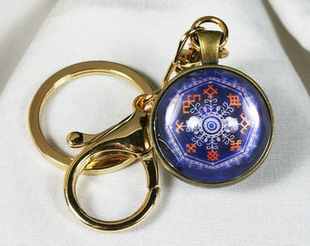 Baltic sign keychain amulet, Sign of good luck