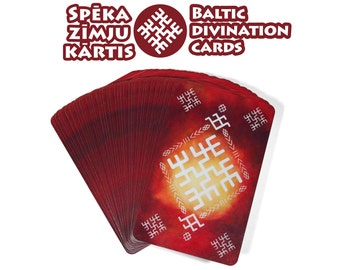 Baltic sign divination cards