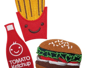 French fries foe fast food foe food hair tie hamburger foe soda nuggets foe-5//8