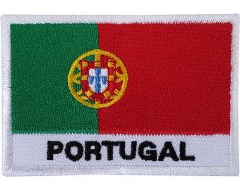 PORTUGAL LOGO LEAF PATCH Embroidered Badge Iron Sew 8cm x 7cm Portuguesa Biker