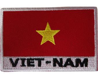 NORTH VIETNAM FLAG embroidered iron-on PATCH REPUBLIC EMBLEM APPLIQUE VIET CONG