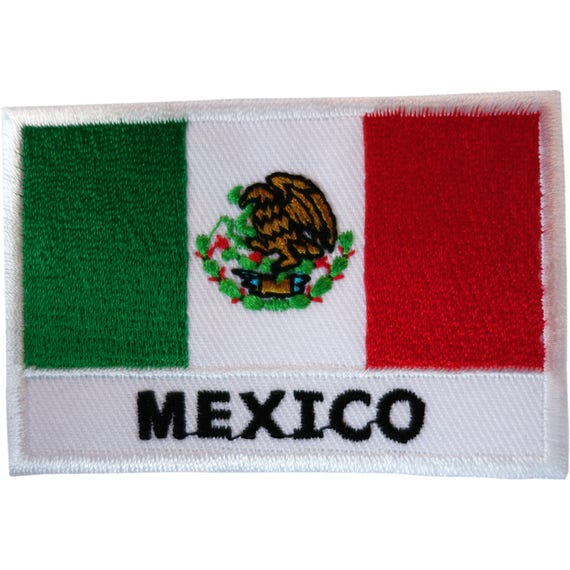 Mexico Flag Patch Embroidered National Flag Iron On Patch