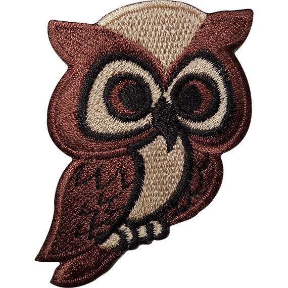 Brown Owl Embroidered Iron Sew On Patch Bag Jacket Shirt Jeans Badge Transfer