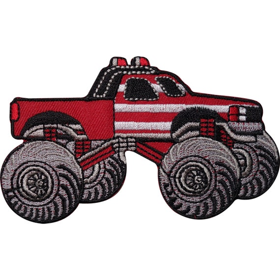 Embroidered Iron On Dumper Truck Patch Sew On Tipper Badge for Boys Jackets Bags