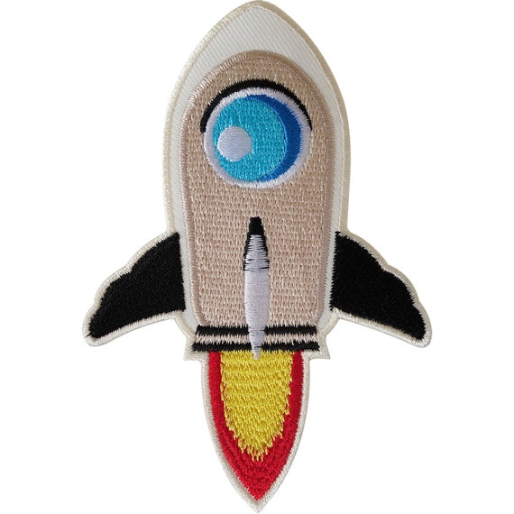 Iron On Sequin Rocket Embroidery Applique Patch Sew Iron Badge